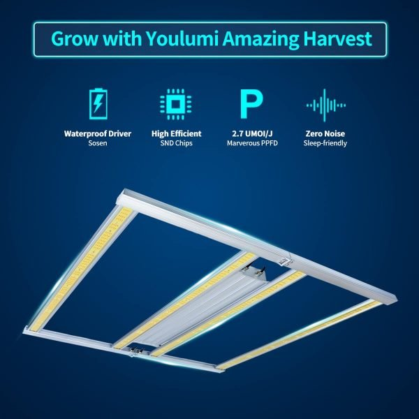 YOULUMI Octopus 320W LED Grow Lights
