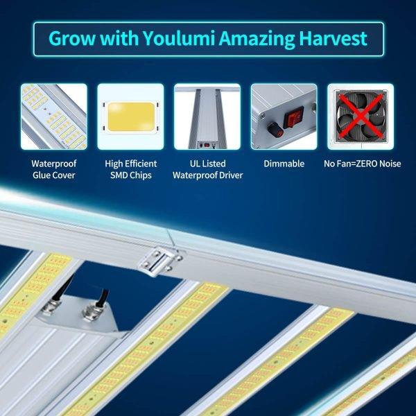 YOULUMI Octopus 640W LED Grow Light